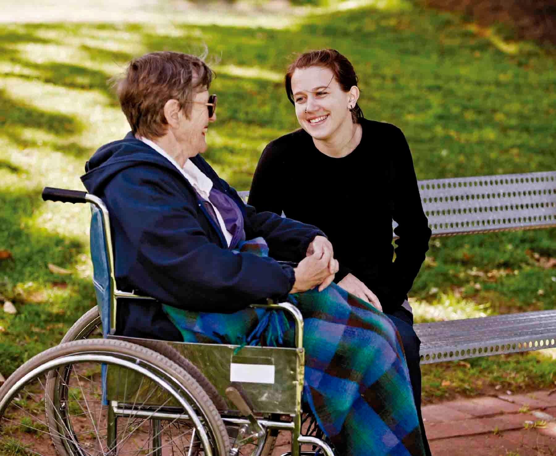 amigo con discapacidad