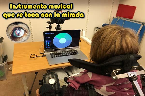 instrumento musical que se toca con la mirada discapacidad ayuda apoyo niños 2017 niñas apoyar ayudar personas mejora visual