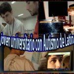 joven universitario con autismo graduado estudiante logro inclusion discapacidad fausto fotos imagenes piano