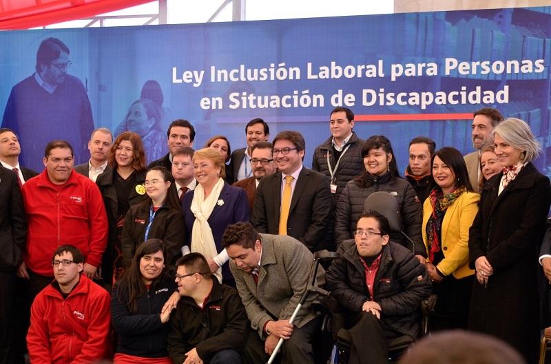 ley de inclusión laboral en Chile